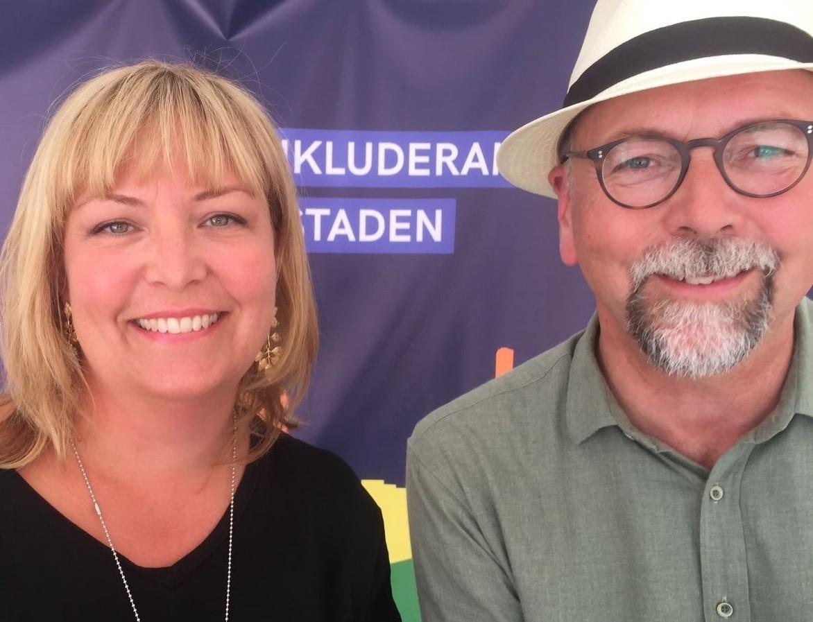 Innovationsföretagen på Stockholm Pride. Marina Åman, Unionen och Magnus-Höij.