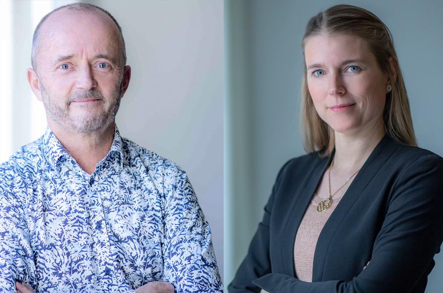 Anders Persson och Helena Dahlberg på Innovationsföretagen.