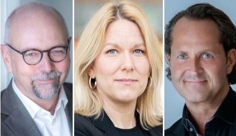 Magnus Höij, Åsa Zetterberg, Andreas Åström. Foto: Almega.