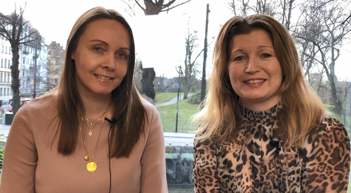 Hanna Byström och Maria Elinder om avtalsrörelsen, Avtal20. Foto: Innovationsföretagen.
