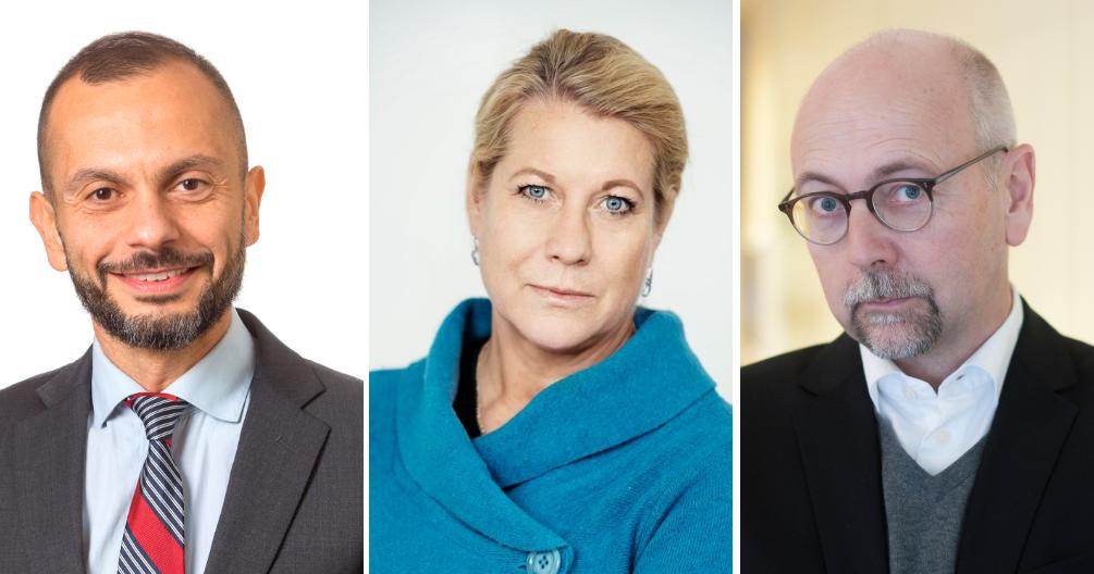 Ali Sadeghi, Trafikverket, Catharina Elmsäter-Svärd, Byggföretagen, Magnus Höij, Innovationsföretagen.